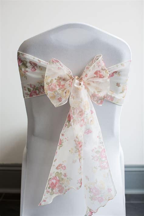 chair cover sash hire torquay devon vintage floral