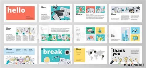 design elements when creating slides business presentation templates flat design vector