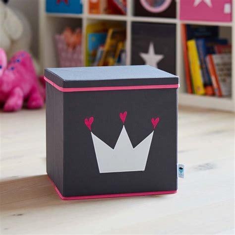 aufbewahrungsboxen kinderzimmer design store t aufbewahrungsbox mit deckel krone grau pink
