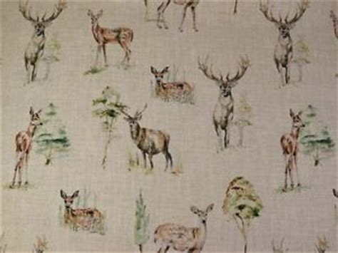stag print curtains clarke clarke stag deer country print linen curtains