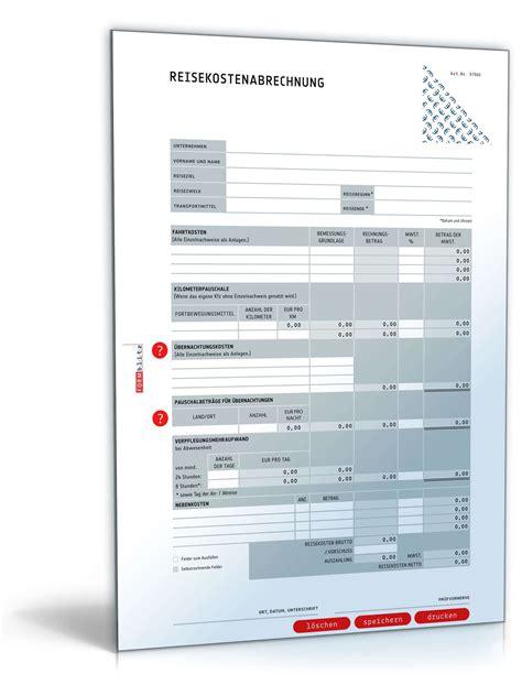 reisekostenabrechnung  vorlage zum