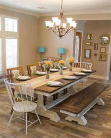 Dining Room Table Styles by Best 25 Farmhouse Dining Room Table Ideas On Pinterest