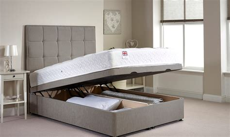 divan bed without headboard ottoman divan bed groupon goods