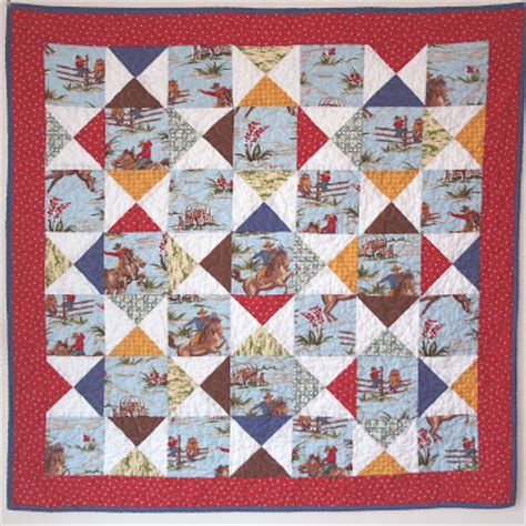 Western Themed Quilt Patterns by Cowboy Themed Baby Quilt Pattern Sewing Patterns For Baby