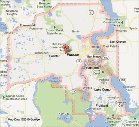 Putnam County Florida Records Putnam County Map Florida
