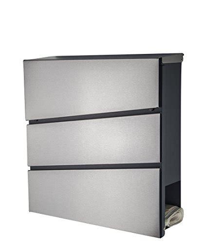 moderne briefkästen briefkasten mailbox postkasten 333 edelstahl anthrazit