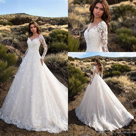 Modest Designer Wedding Dresses 2018 Rhinestone Appliques