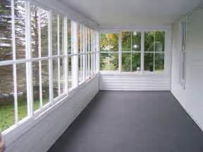 Closed Patio Designs This Is Like Ours Minus Back Windows Time For A Makeover Porch Makeover Oh Ya