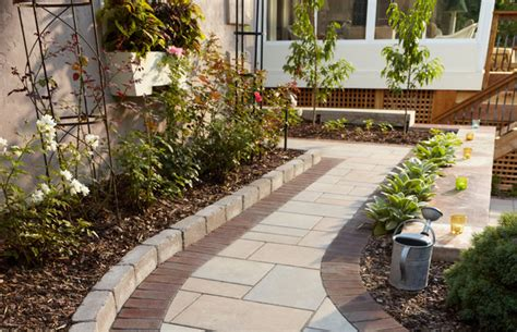 Decorative Stones For Vases Outdoor Bistro Paver Walkway With Border And Edging