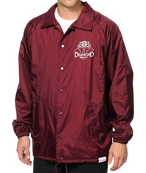 diamond couch diamond supply co coveted coach jacket zumiez