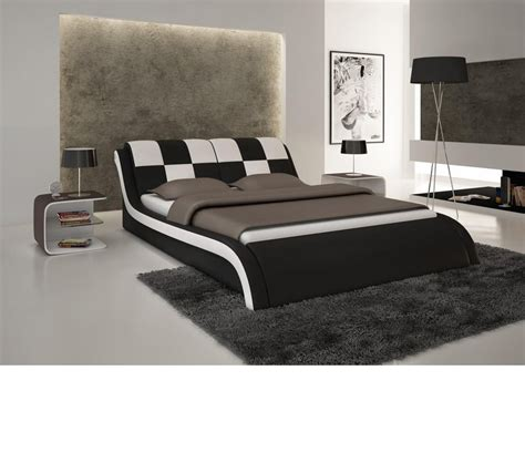 modern leather beds dreamfurniture com s613 contemporary eco leather bed