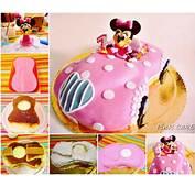 DIY Minnie Mouse Car Cake  UsefulDIYcom