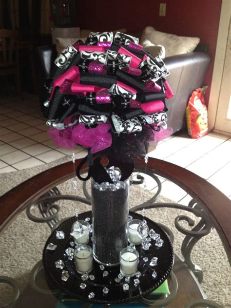 pink and black centerpieces for weddings items similar to pink and black wedding centerpieces