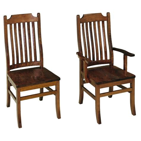 Amish Oak Dining Chairs Mission Furniture Amish Dining Chair