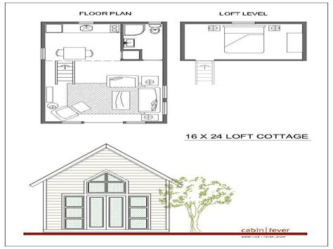 Cabin With Loft Floor Plans | 16x24 cabin plans with loft 16x20 cabin floor plans small