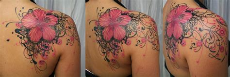 free amazing styles pink color tattoos pomegranate pink