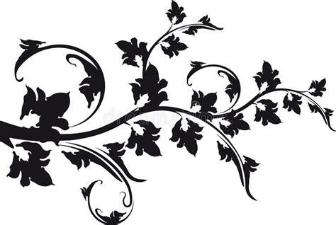 bloemen zwart wit tekening decoratieve bloemen zwart witte tak vector illustratie