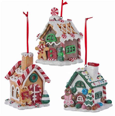 lighted gingerbread house sale christmas ornaments quot sugar coated quot led lighted