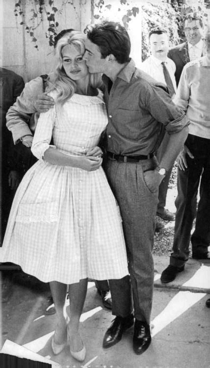 Brigitte Bardot & Jacques Charrier on their wedding day