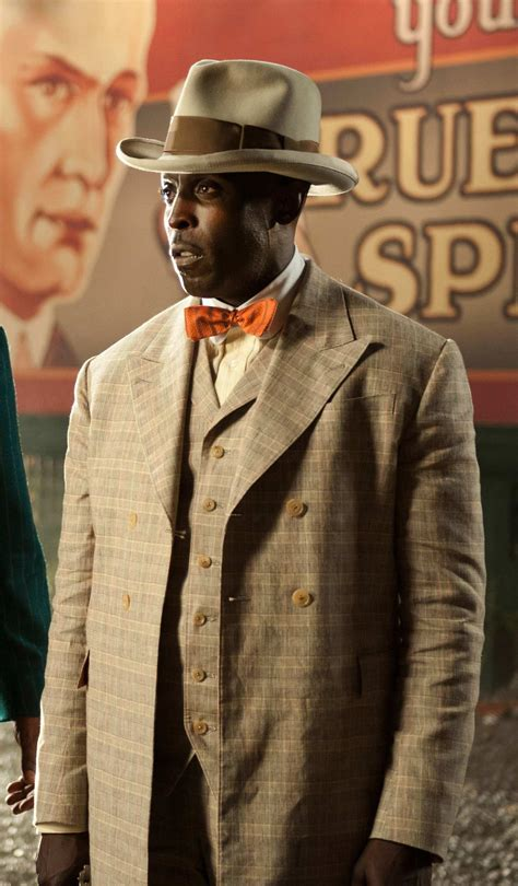 michael k williams chalky white chalky white s cream plaid suit on boardwalk empire bamf