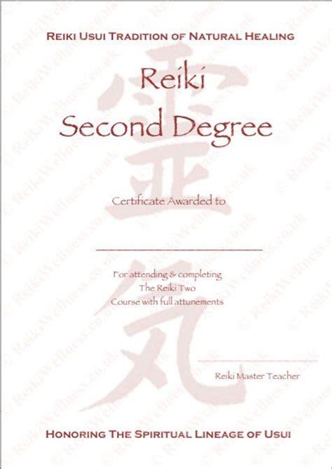 personalised complete set reiki certificates templates