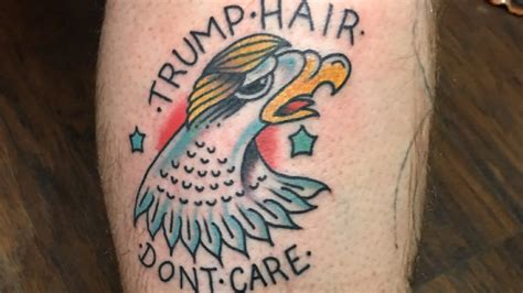 tattoo care plan quot trump s hair don t care quot ink shows valley trump