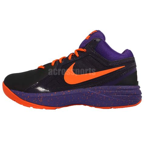 purple and black nike basketball shoes nike the overplay viii 8 black purple orange mens