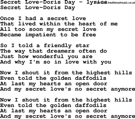 secret lyrics we the song lyrics for secret doris day