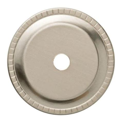 liberty 1 1 4 in satin nickel ribbed edge cabinet knob