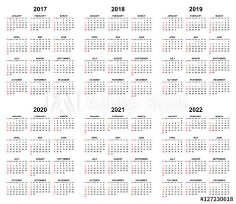 simple editable vector calendars  year       sundays  red