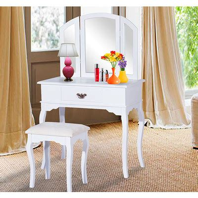 Makeup Vanity Table Canada Homcom Classic Dressing Vanity Makeup Table With Stool Mirror White Canada At Shop Ca