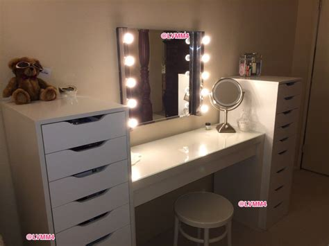 makeup table with alex drawers alex drawer with makeup vanity d love malm