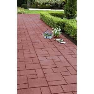 recycled rubber pavers from home depot patio