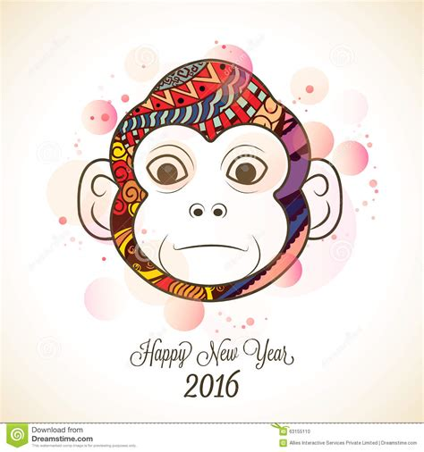 new year monkey ks1 monkey for new year 2016 celebration stock