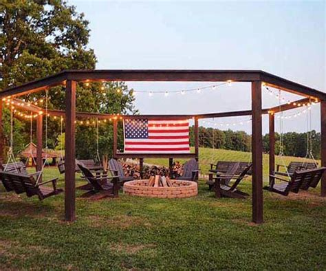 diy pit and swing stylish and creative pit seating ideas