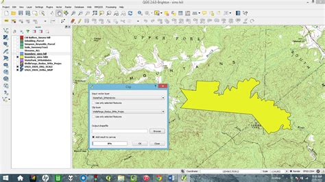 qgis tutorial parcel editing qgis how to remove a parcel from a larger area