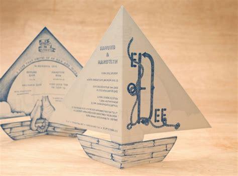 origami boat invitation 23 creative and unique wedding invitations creative