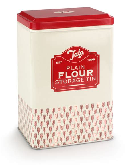 baking containers storage tala originals retro design plain flour storage tin