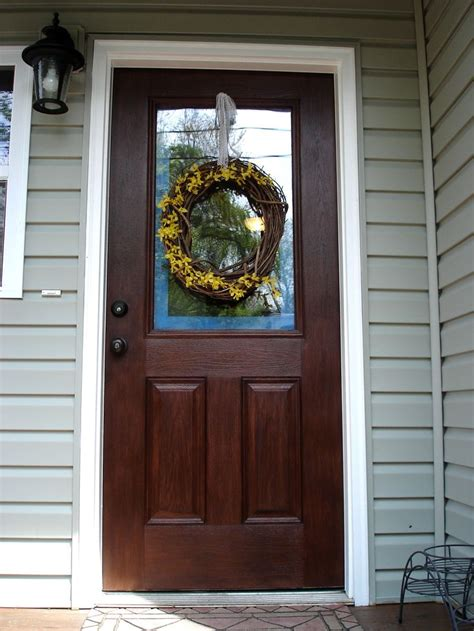 Paint Or Stain Fiberglass Exterior Doors Best 25 Stained Front Door Ideas On Pinterest Entry Doors Wood Front Doors And Farmhouse