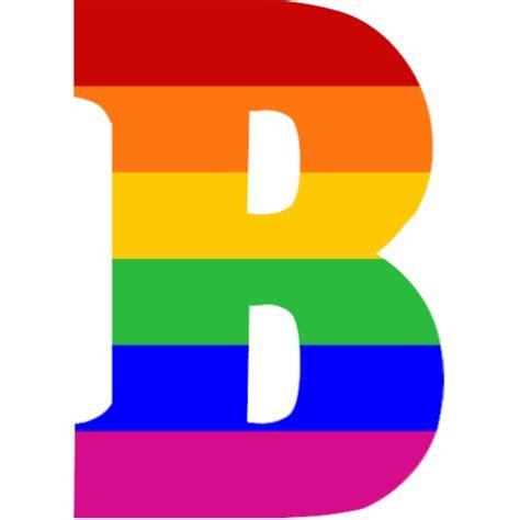 a b rainbow letter b cut outs zazzle