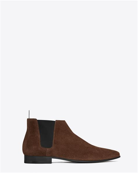 ysl chelsea boots laurent signature 20 cropped chelsea boot in