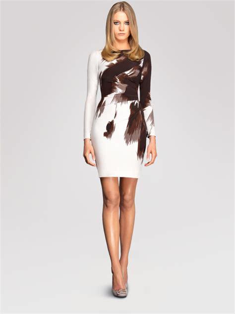 side drape dress gucci side drape dress in white lyst