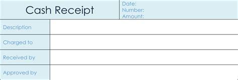 samples  cash receipt template  excel  word