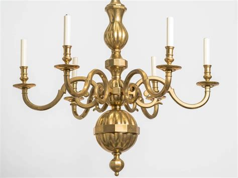 Solid Brass Chandelier Traditional Solid Brass Six Arm Chandelier At 1stdibs