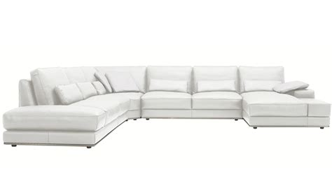 one piece sectional sofa modern 3 piece white leather nolan sectional sofa zuri