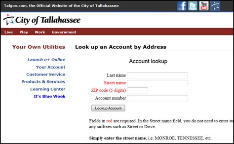 City Of Tallahassee Utilities Lookup By Address The Light Bill Should A Home Buyer Review The Seller S