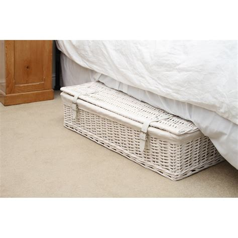 storage under bed buy white wicker underbed storage baskets from the basket