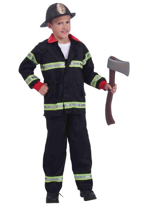 firefighter costume child black fireman costume