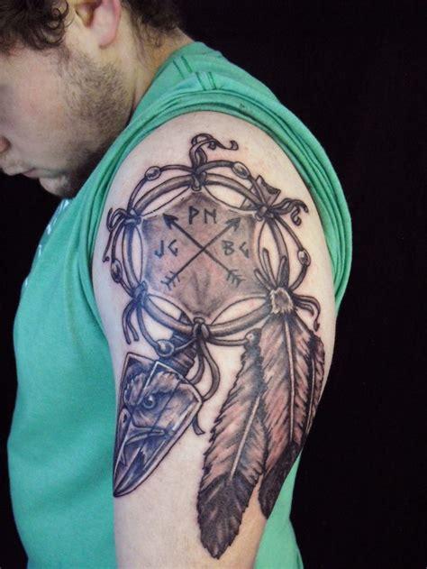 eagle tattoo nj native american dreamcatcher shield feather eagle tattoo