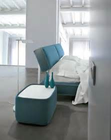 nightstand with glass top upholstered for bedroom